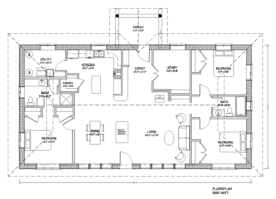 Eco Family 1900 Floor Plan