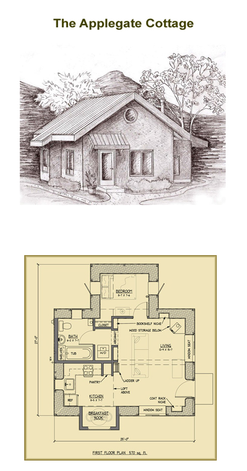 Applegate straw bale cottage plans Cottage construction costs