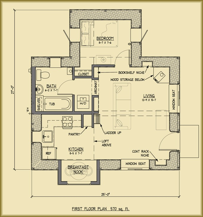 Applegate straw bale cottage plans for Straw bale home designs