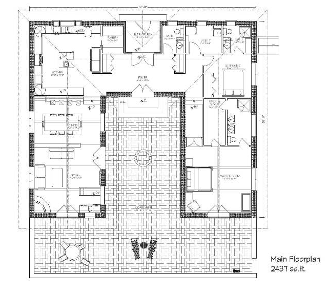 Bale hacienda straw bale plans for Straw bale home designs