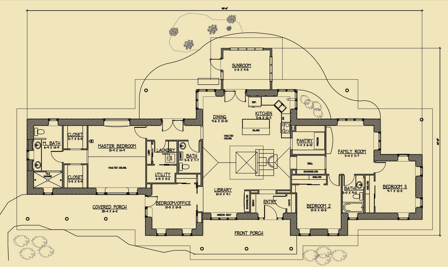 Rustic family straw bale plans Strawbale home plans
