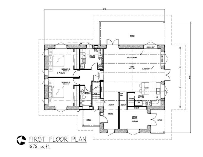 Mountain escape straw bale plans for Straw bale home designs