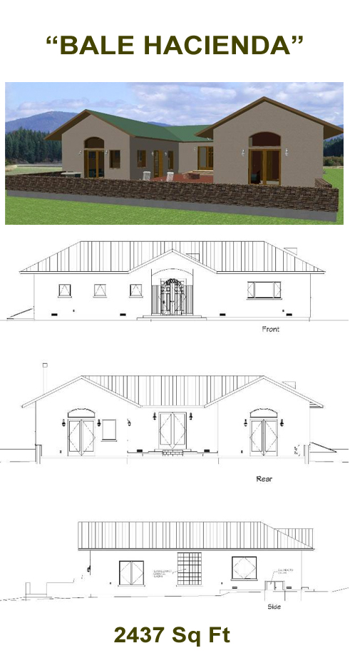 """Bale Hacienda"" Straw Bale Plans"
