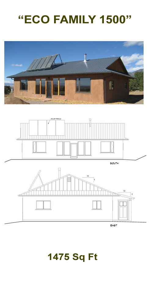 """Eco Family 1500"" Straw Bale Plans"