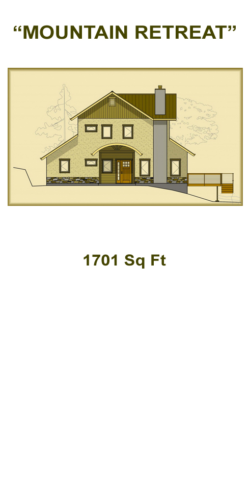 Mountain retreat straw bale plans for Retreat house plans