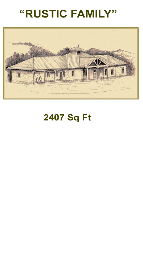"""Rustic Family"" Straw Bale Plans"