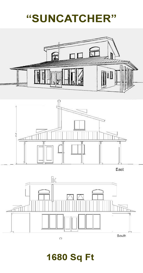 Suncatcher 1600 straw bale plans for Straw bale home designs