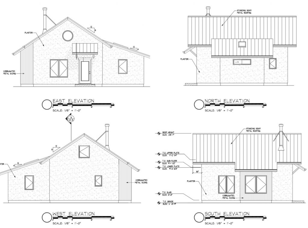 straw bale house elevations
