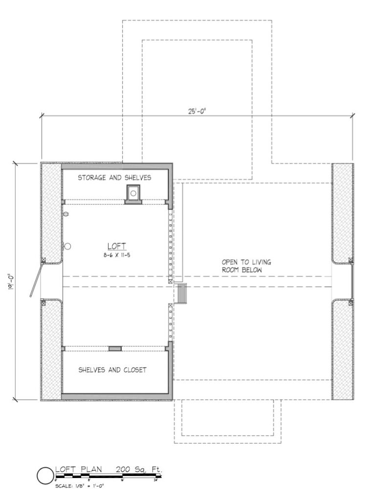straw bale house loft floor plan